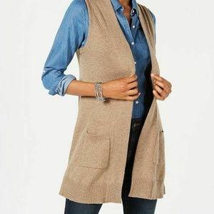 Karen Scott 2X Chestnut Brown Sweater Vest 2Q39